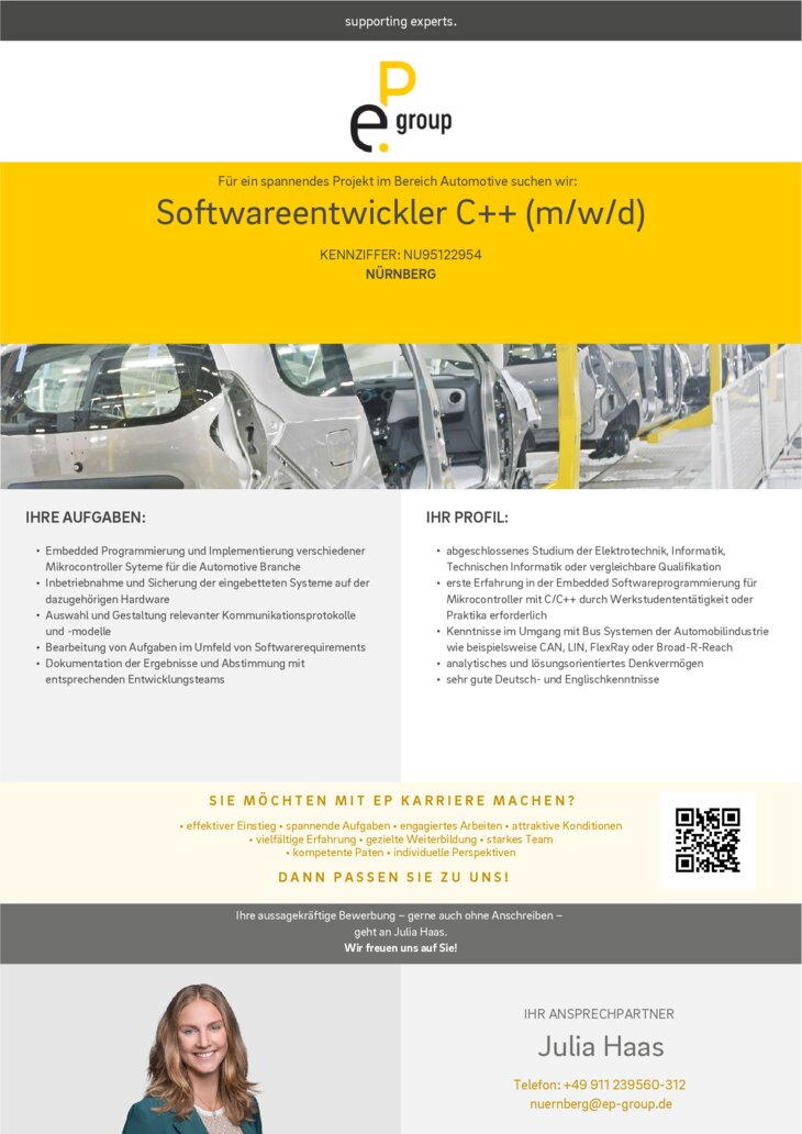 Softwareentwickler C++ (m/w/d)